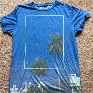Pull&a bear palm tree T-shirt